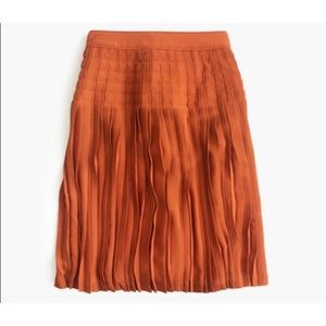 J. Crew Micropleated Midi Skirt Size 8